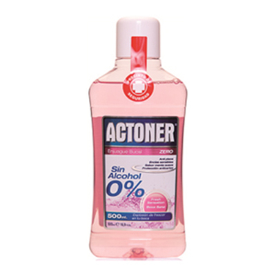 ACTONER ENJUAGUE BUCAL ZERO S-ALC 500