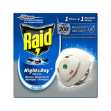 RAID NIGHT-DAY MOSQUITOS APARATO+REC