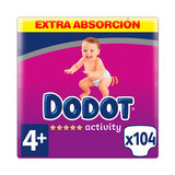 DODOT ACTIVITY EXTRA TALLA 4+ 104 UDS