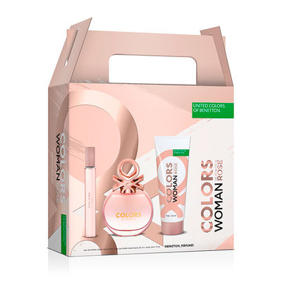 BENETTON SET COLORS ROSE EDT 50 VAP+BL75