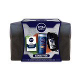 NIVEA SET MEN SENSITIVE BALSAMO-GEL-DES