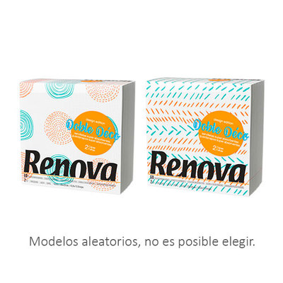 RENOVA SERVILLETAS DECORAD 2CA 33X33 60U