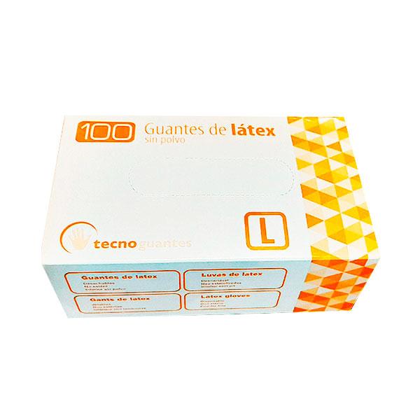 TECNOPACKING GUANTE LATEX T-L 100 UD