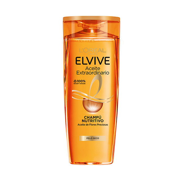 ELVIVE CHAMPU ACEITE CAB SECOS 370 ML