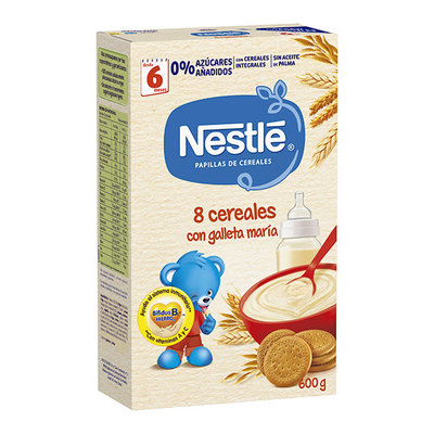 NESTLE 8 CEREALES C-GALLETA 600 GR